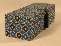 Oblong Box with Katazome Blue Fruit Paper