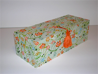 Oblong Box with Katazome Field in Bloom paper