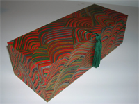 Oblong Box with Yuzen Striped Hills paper