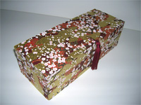 Oblong Box with Plum Blossom & Golden Cloud  paper