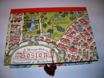 Rectangular Box with Boston Map Paper