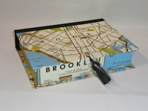 Rectangular Box with Brooklyn 1946 Map Paper