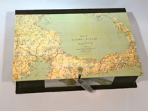 Rectangular Box with Vintage Cape Cod Map Paper