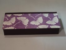 Four Compartment Box with Blossoms and Purple Paper