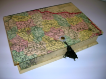 Rectangular Box with Map of France Paper