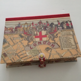 Rectangular Box with London Medieval Map Paper