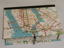 Rectangular Box with Map the New York City Subway Paper