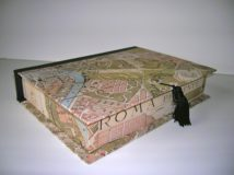 Rectangular Box with Rome Map Paper