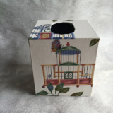 Tissue Box Cover with Bird and Bird Cage Paper