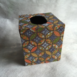 Tissue Box Cover with Geometric Circles Paper