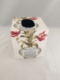 Tissue Box Cover with Chinese Vases and Flowers Paper