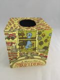 Tissue Box Cover with Boston Map Paper