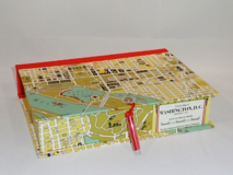 Rectangular Box with Washington, DC Map Paper