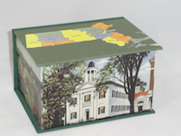 Deep Square Box with Maps of Massachusetts and Berkshire County