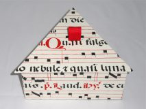 Triangular Box with Medieval Musical Manuscript paper