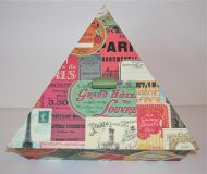 Triangular Box with Paris Monuments Ads paper