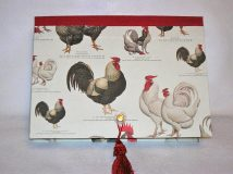 Rectangular Box with Roosters & Hens Paper