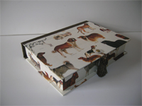 Rectangular Box with Dog Breeds paper
