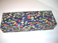Flat Oblong Box with Bridges & Flowers paper