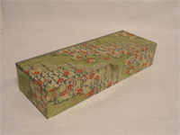 Flat Oblong Box with Kirara Flowers paper