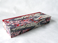 Flat Oblong Box with Japanese Cherry Blossom paper