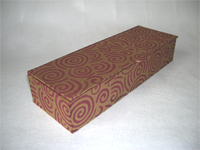 Flat Oblong Box Covered in Indian Funky Swirls Paper