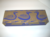 Flat Oblong Box with Shanti Birds paper