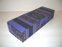 Flat Oblong Box with Tribal Shield paper