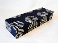 Flat Oblong Box with Katazome Geometric Circles paper