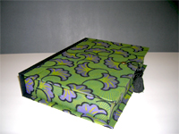 Rectangular Box with Gingko Leaf flocked paper
