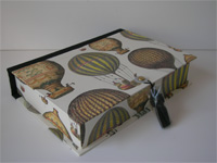 Rectangular Box with Hot Air Balloons Paper