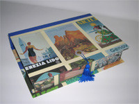 Rectangular Box with Italian Travel Posters Paper