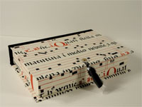 Rectangular Box with Medieval Musical Manuscript Paper