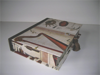 Rectangular Box with Musical Instruments paper