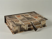 Rectangular Box with New York City Vintage Postcard paper