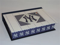 Rectangular Box with New York Yankees decorative paper