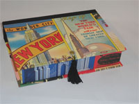 Rectangular Box with New York The Wonder City Ads Paper