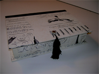 Rectangular Box With Pen & Script Paper