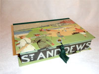 Rectangular Box with vintage Golfing Papers