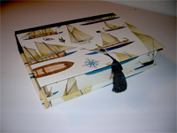 Rectangular Box with Sailing Ships Paper