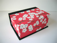 Square Box with Chinois Cherry Blossom Paper
