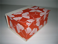 Square Box with Lokta Gingko Leaf paper