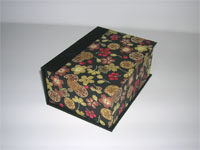 Square Box with Blooming Flowers Paper