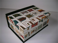 Square Box with Florentine Flag paper