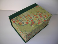 Square Box with Kirara Flowers Paper