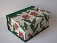 Square Box with Tulips & Musical Scores paper