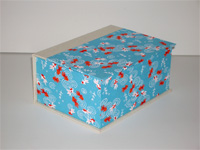 Square Box with Yuzen Blue Koi paper