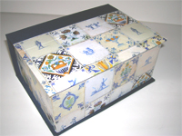 Square Box with Dutch Tiles paper
