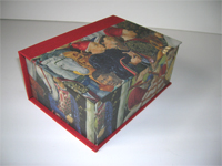 Square Box with Prince's Procession paper