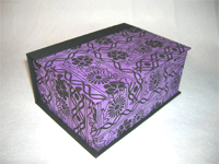 Square Black Flowers Box